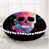 Geometric Skull Round Cushion Cover Cushion Cover BeddingOutlet Diameter 45cm