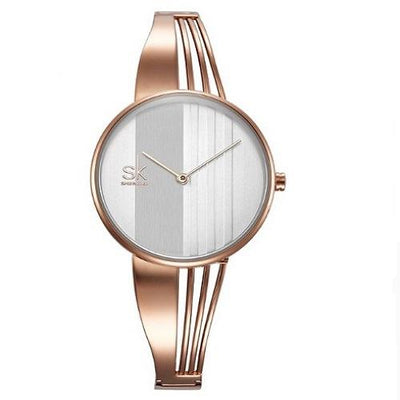 Gold-plated Women Wrist Watches Women Silver Watches SHENGKE Rose Gold