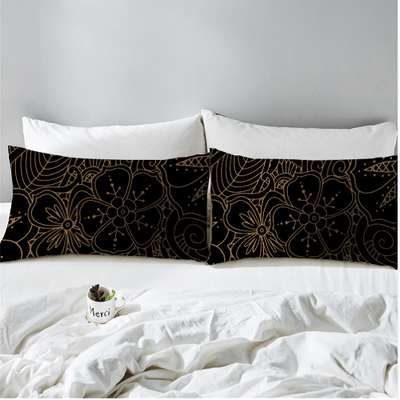 Golden Dolphins Bedding Flower Set Bedding covers BeddingOutlet