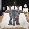 Golden Floral Elephant Duvet Cover Set Bedding covers Svetanya Single