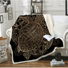 Golden Tortoise Velvet Plush Throw Blanket Throw Blanket BeddingOutlet 130cmx150cm