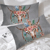 Gray Dream Catcher Cow Skull Pillow Cases Pillowcases Blessliving Queen 50cmx75cm