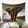 Gray Elephants Colored Tapestry Tapestry BeddingOutlet 130cmx150cm