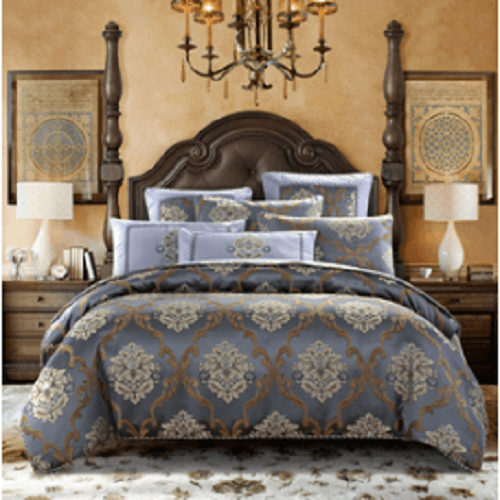 Gray Embroidered Style Luxury Bedlinen Embroidered Bed Set Svetanya AU single