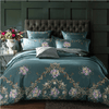 Green Embroidered Cotton Bedding Sets Embroidered Bed Set Svetanya Queen