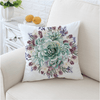 Green Succulents Cushion Cover Cushion Cover BeddingOutlet 45cmx45cm