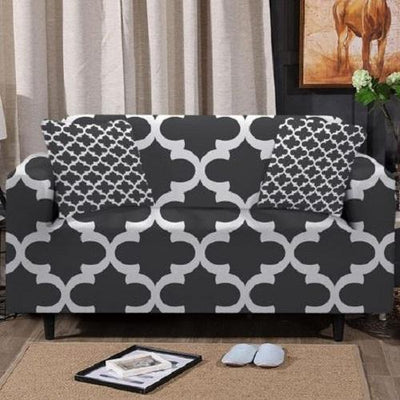 Grey Geometric Sofa Cover Sofa Covers BeddingOutlet 1-Seater