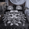 Gun Floral Black Skull Bedding Set Bedding Cover Set BeddingOutlet Single