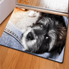 Hairy Pug Dog Pattern Door Carpets Door & Floor Mats HUGSIDEA 400mm x 600mm