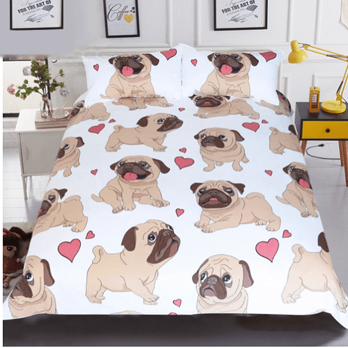 Hippie-Pug Bohemian BeddingSet Bedding covers BeddingOutlet Single