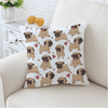 Hippie Pug Cushion Cover Cushion Cover BeddingOutlet 45cmx45cm
