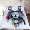 Hippy Lion Watercolor Tribal Bed Set Bedding Cover Set BeddingOutlet AU Single