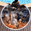 Horses Dusty Lightning Beach Towel Beach/Bath Towel BeddingOutlet Diameter 150cm