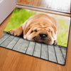 Hugsidea Animal Pug Dog Rugs Door & Floor Mats HUGSIDEA 400mm x 600mm