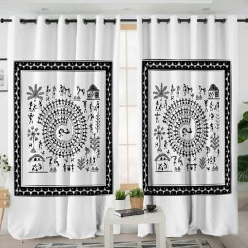 India Rural Life Window Curtain Window Curtain BeddingOutlet W100xH130cm