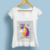 Jollypeach Cute Unicorn Casual Women T-Shirts Women T-Shirts JollyPeach S