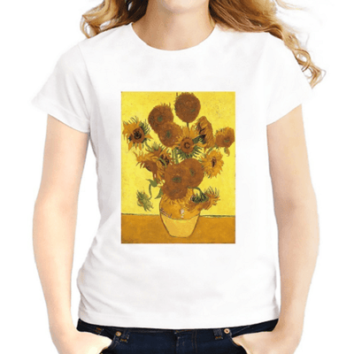 Jollypeach Sunflowers Casual Women T-Shirts Women T-Shirts JollyPeach S