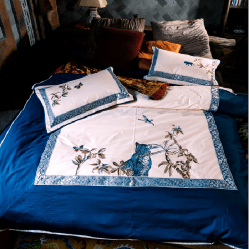 Jungle Embroidered Luxury Bedding Sets Embroidered Bed Set Svetanya Single