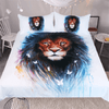 Lion and Butterfly Watercolor Bed Set Bedding Cover Set BeddingOutlet AU Single