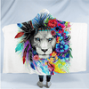 Lion Animal Hooded Blanket Hooded Blanket BeddingOutlet Adults 150(H)x200(W)