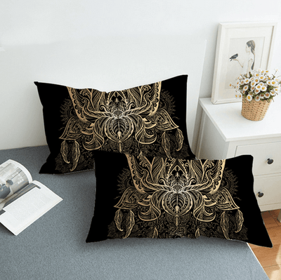 Lotus Bohemian Bedding Set With Print Bedding covers BeddingOutlet