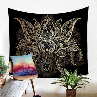 Lotus Flower Tapestry Tapestry BeddingOutlet 130x150cm
