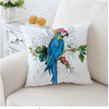 Macaw Art Cushion Cover Floral Cushion Cover BeddingOutlet 45cmx45cm