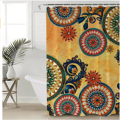 Mandala Flowers Shower Curtain Shower Curtains BeddingOutlet 165x180cm