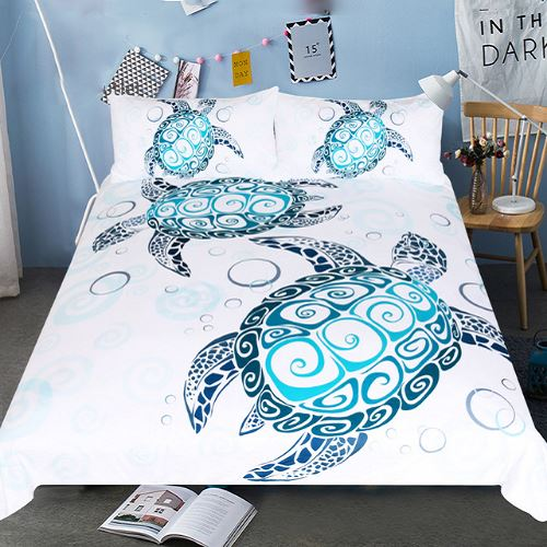 Marine Animal Turtles Printed Bedding Set Bedding Set BeddingOutlet Single