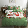 Merry Christmas Green Duvet Cover Set Bedding covers Svetanya Single