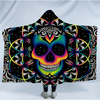 Microfiber Colored Skull Hooded Blanket Hooded Blanket BeddingOutlet Adults 150(H)x200(W)