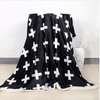 Modern White Cross Throw blanket Throw Blanket BeddingOutlet