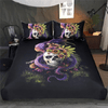 Monster Floral Skulls Bedding Set Bedding Cover Set BeddingOutlet Single