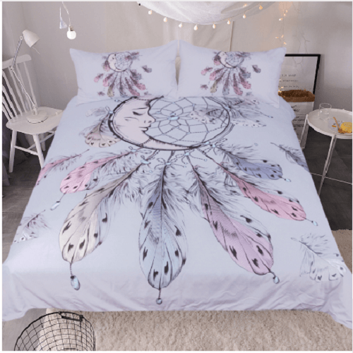 Moon Dreamcatcher Bedding Set Bedding covers BeddingOutlet Single