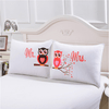 Mr and Mrs Owls Romantic Pillow Case Pillowcases BeddingOutlet 50cmx75cm