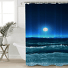 Ocean Waves Shower Curtain Shower Curtains BeddingOutlet 90x180cm