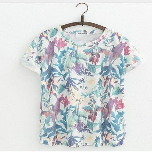 Orchid Flowers Print Women Tshirt Women T Shirts JKKUCOCO One Size