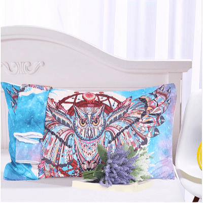 Owl Dream Catcher with Feathers Bedding Set Bedding Set BeddingOutlet