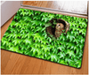 OWL Green Leaves Floor Carpet Door & Floor Mats HUGSIDEA 400mm x 600mm