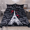 Paris Eiffel Tower Bedding Set Black Bedding covers BeddingOutlet Single