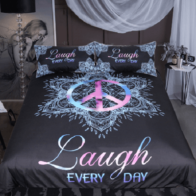 Peace Symbol Bedding Set Bedding Set BeddingOutlet Single