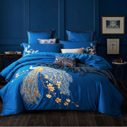 Peacock Embroidered Bedding Sets Embroidered Bed Set Svetanya Single