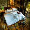 Phoenix Embroidered Duvet Cover Set Embroidered Bed Set Svetanya AU single