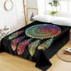 Piece Colorful Feathers Flat Sheet Bedding Covers Sheets BeddingOutlet Twin