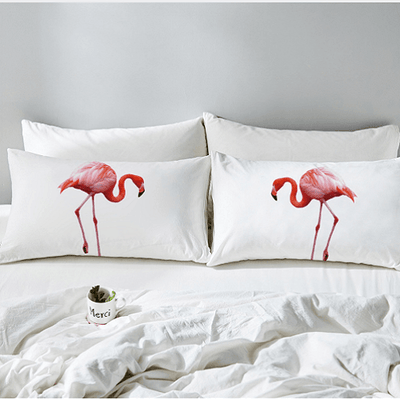 Pink Flamingo Pillowcase Adorable Bird Pillowcases BeddingOutlet