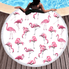 Pink Flamingos Microfiber Round Beach Towel Beach/Bath Towel BeddingOutlet Diameter 150cm