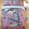 Pink Laughing Skull Duvet Cover Set Bedding covers Svetanya Single