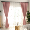 Pink Modern Thick Luxury Curtains Window Curtain CITYINCITY W100 x H250CM ROD POCKET