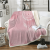 Pink Watercolor Dreamcatcher Sherpa Blanket Throw Blanket Svetanya 130cmx150cm