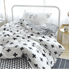 Plus Sign Back and White Bedding Set Baby Bedding Set Svetanya Single